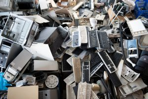 """""""Obsolete computer electronics equipment for recycling,"""""""